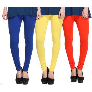 Hothy Multicolor Cotton Lurex Legings (Pack of 3)