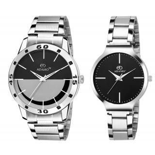 ADAMO Designer Mens Wrist Watch A816-817SM02