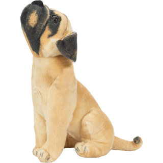 Brown Pug Dog Stuffed Soft Plush Toy For Kids Birthday Gift