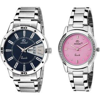 ADAMO Designer Mens Wrist Watch 814SM05-325SM06