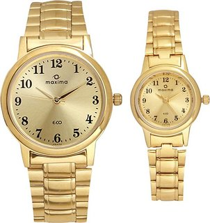 Maxima maxc74 couplegold Watch - For Couple