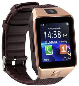 DZ09 Smartwatch Touch Screen Wrist Watch with SIM  Memory Card Support Gold for all Mobile Phones