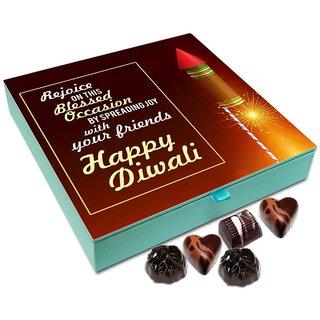 Chocholik Diwali Gift - Rejoice On The Blessed Occasion Of Diwali Chocolate Box - 9pc