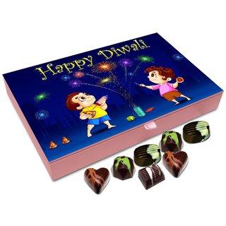 Chocholik Diwali Gift - Happy Diwali To All My Cute Friends Chocolate Box - 12pc