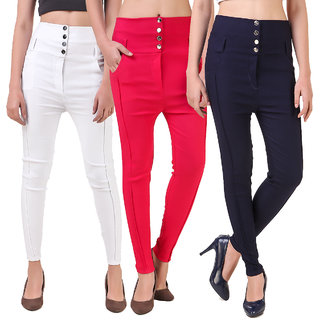 Imreyes Women's Multicolor Jeggings (Pack of 3)