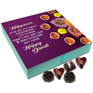 Chocholik Diwali Gift - Happiness Is In The Air It's Diwali Everywhere Chocolate Box - 9pc