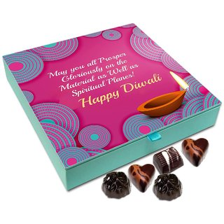 Chocholik Diwali Gift Box - May This Diwali Brings Luck For You To Prosper Chocolate Box - 9pc
