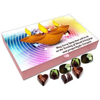 Chocholik Diwali Gift Box - May The Lights Of Diwali Bring Prosperity To All Chocolate Box - 12pc