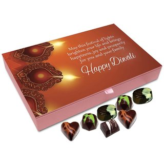 Chocholik Diwali Gift - May This Diwali Brighten The Life Of Your Family Chocolate Box - 12pc