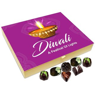 Chocholik Diwali Gift Box - Diwali The Beautiful Festival Of Light Chocolate Box - 20pc