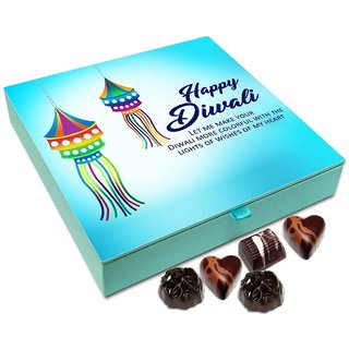 Chocholik Diwali Gift - Lights Of Wishes From My Heart On Diwali Chocolate Box - 9pc