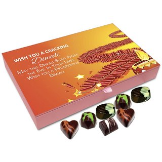 Chocholik Diwali Gift - Wish You A Cracking And Prosperous Diwali Chocolate Box - 12pc