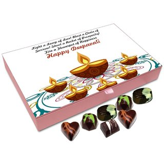 Chocholik Diwali Gift - Shoot A Rocket Of Prosperity On This Diwali Chocolate Box - 12pc