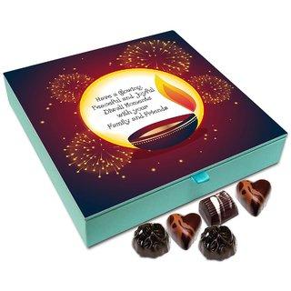 Chocholik Diwali Gift Box - May This Diwali Be Glowing Peaceful And Joyful Chocolate Box - 9pc