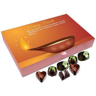 Chocholik Diwali Gift Box - May The Lamps Of Diwali Illuminate Your Life Chocolate Box - 12pc