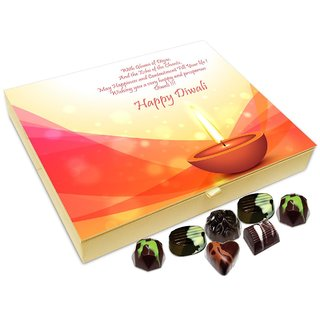 Chocholik Diwali Gift - May This Diwali Fill Your Life With Happiness And Contentment Chocolate Box - 20pc