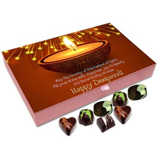 Chocholik Diwali Gift Box - May This Diwali Brings Never Ending Success In Your Life Chocolate Box - 12pc