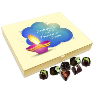 Chocholik Diwali Gift Box - Wish A Very Joyful And Prosperous Diwali Chocolate Box - 20pc