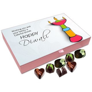 Chocholik Diwali Gift Box - Wishing You And All Your Family A Very Happy Diwali Chocolate Box - 12pc