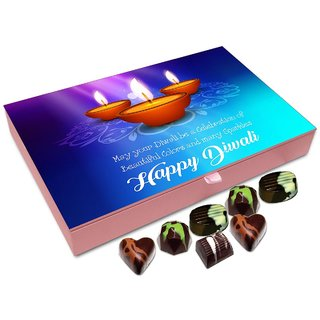 Chocholik Diwali Gift Box - May Your Diwali Be Celebration Of Beautiful Colors Chocolate Box - 12pc