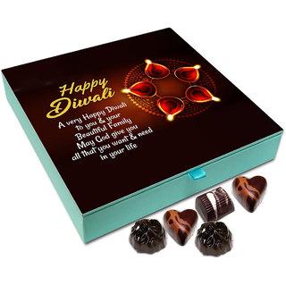 Chocholik Diwali Gift - A Very Happy Diwali To You And Your Beautiful Family Chocolate Box - 9pc