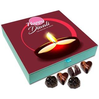 Chocholik Diwali Gift - Diwali The Auspicious Festival Of Light Chocolate Box - 9pc