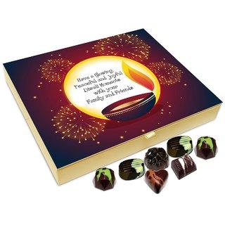 Chocholik Diwali Gift Box - May This Diwali Be Glowing Peaceful And Joyful Chocolate Box - 20pc