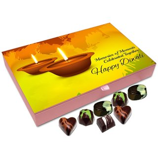 Chocholik Diwali Gift - Diwali Is Memories Of Moments Celebrated Together Chocolate Box - 12pc