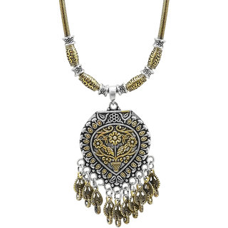 JewelMaze Zinc Alloy 2 Tone Plated Necklace -1111013