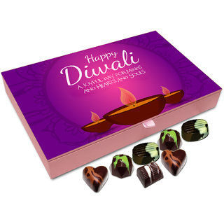 Chocholik Diwali Gift - Diwali A Joyful Day For Minds Hearts And Souls Chocolate Box - 12pc