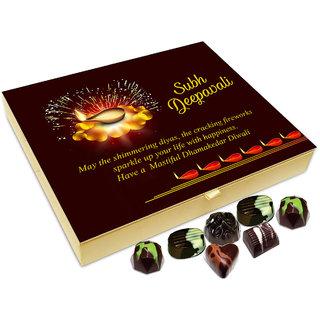 Chocholik Diwali Gift - May The Shimmering Diwali Diyas Add Sparkle To Your Life Chocolate Box - 20pc