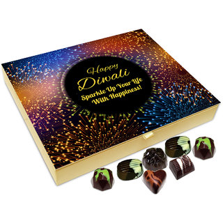 Chocholik Diwali Gift - ON This Diwali Sparkle Your Life With Happiness Chocolate Box - 20pc
