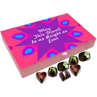Chocholik Diwali Gift Box - May This Diwali Be As Luminous As Ever Chocolate Box - 12pc
