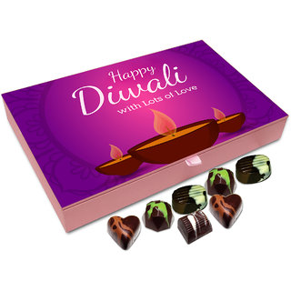 Chocholik Diwali Gift - Happy Diwali With Lots Of Love Chocolate Box - 12pc