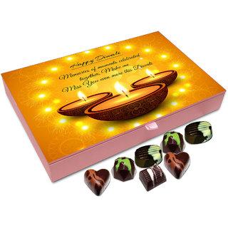 Chocholik Diwali Gift Box - Joyous Moments Of Diwali Makes Me Miss You Even More Chocolate Box - 12pc