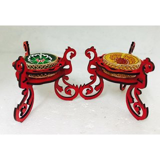 Awax Decorative 2 Tealight With Attractive Stand