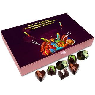 Chocholik Diwali Gift - May The Illuminated Lamps Of Diwali Make Your Life Better Chocolate Box - 12pc