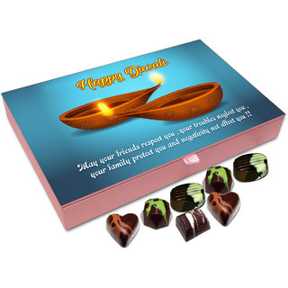Chocholik Diwali Gift - May This Diwali Be The One That Helps You Earn Lots Of Respect Chocolate Box - 12pc