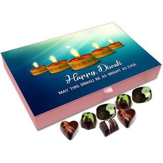 Chocholik Diwali Gift - May This Deepawali Be As Bright As Ever Chocolate Box - 12pc