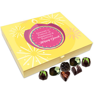 Chocholik Diwali Gift - Deepawali Is Festival Of Happiness And Positivity Chocolate Box - 20pc
