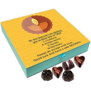 Chocholik Diwali Gift - On This Diwali I Wish You Lots Of Smiles And Harmony Chocolate Box - 9pc