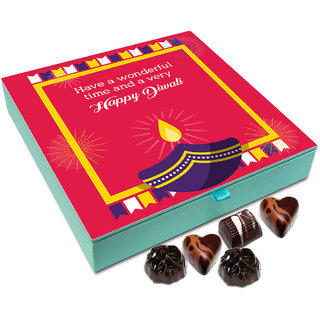 Chocholik Diwali Gift - Have An Enjoyable Diwali Chocolate Box - 9pc