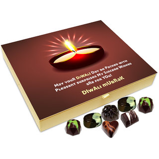 Chocholik Diwali Gift Box - May Your Diwali Day Be Packed With Pleasant Surprises Chocolate Box - 20pc