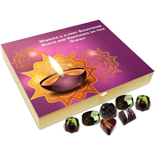 Chocholik Diwali Gift - Wishing You A Very Generous Diwali Chocolate Box - 20pc