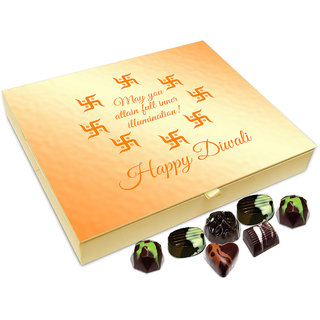 Chocholik Diwali Gift Box - On This Diwali May You Attain Full Inner Illumination Chocolate Box - 20pc
