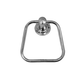 Brown Stainless Steel Royal Apple Towel Ring/Napkin Ring Chrome