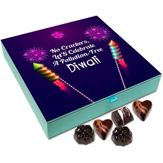 Chocholik Diwali Gift - No Crackers Let's Celebrate Pollution Free Diwali Chocolate Box - 9pc