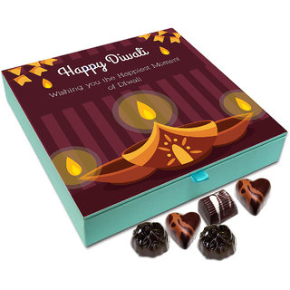 Chocholik Diwali Gift - Wishing You Happiest Moments Of Diwali Chocolate Box - 9pc