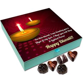 Chocholik Diwali Gift Box - Hope You Keep The Diwali Candle Lighted Forever Chocolate Box - 9pc