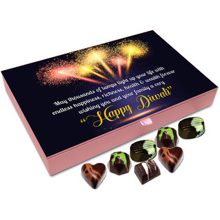 Chocholik Diwali Gift - On This Diwali May Thousands Of Lamps Light Up Your Life Chocolate Box - 12pc